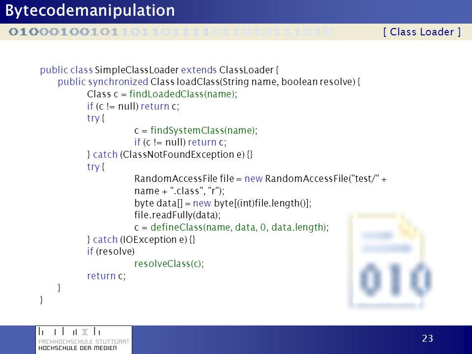 [ Class Loader ] public class SimpleClassLoader extends ClassLoader {